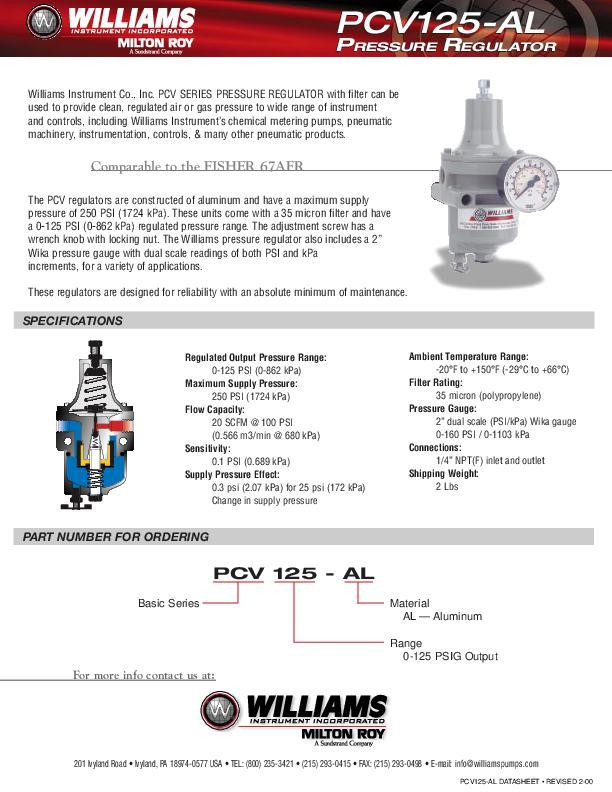 PCV125-AL-Pressure-Regulator